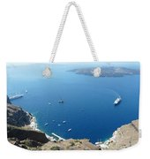 Santorini Old Port At Fira Weekender Tote Bag