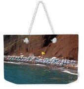 Santorini Red Beach   Weekender Tote Bag
