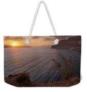 Santorini Sunset Caldera Weekender Tote Bag