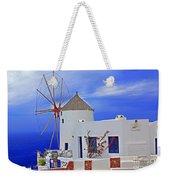 Santorini Windmills Weekender Tote Bag