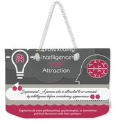 Sapiosexuality Intelligence And Attraction Weekender Tote Bag