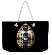 Sapphire And Gold Imperial Easter Egg Weekender Tote Bag