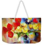 Sara's Colorful Bouquet  Weekender Tote Bag