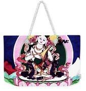 Saraswati Playing A Veena Weekender Tote Bag