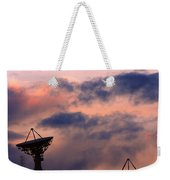 Satellite Sunset Weekender Tote Bag