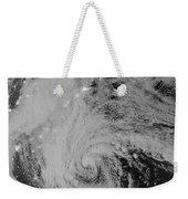 Satellite View Of Hurricane Sandy Weekender Tote Bag