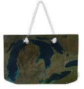 Satellite View Of The Great Lakes, Usa Weekender Tote Bag