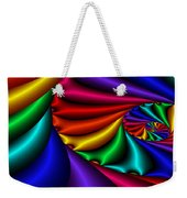 Satin Rainbow Weekender Tote Bag