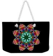 Satin Rainbow Fractal Flower II Weekender Tote Bag