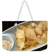Satisfy The Craving With Chips And Dip Weekender Tote Bag