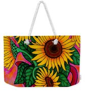 Saturday Morning Sunflowers Weekender Tote Bag
