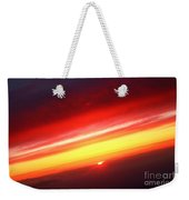 Saturn On Earth Sunset Weekender Tote Bag