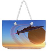 Saturn's Moon Weekender Tote Bag