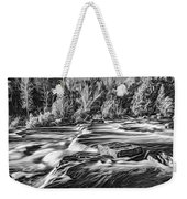 Sauble Falls Autumn Evening 3 - Paint Bw Weekender Tote Bag