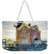 Saugerties Lighthouse Weekender Tote Bag by Nancy De Flon