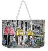 Savannah Georgia River Street 2 Painting Art Weekender Tote Bag