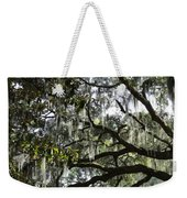 Savannah Green Leaves Weekender Tote Bag