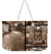 Savannah Landmarks In Sepia Weekender Tote Bag