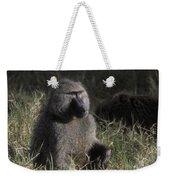 Savannah Olive Baboon  Weekender Tote Bag