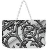 Savannah Pattern Black And White Weekender Tote Bag
