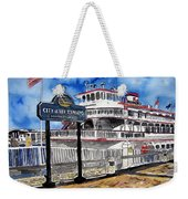 Savannah River Queen Boat Georgia Weekender Tote Bag
