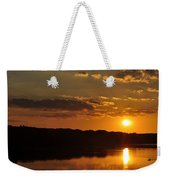 Savannah River Sunset Weekender Tote Bag