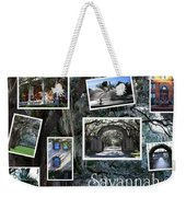 Savannah Scenes Collage Weekender Tote Bag