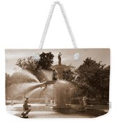 Savannah Sepia - Forsyth Fountain Weekender Tote Bag