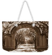 Savannaha Sepia - Wormsloe Plantation Gate Weekender Tote Bag
