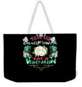 Save Cauliflower Eat Vegetarian Zombie Weekender Tote Bag