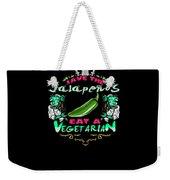 Save Jalepenos Eat Vegetarian Zombie Weekender Tote Bag