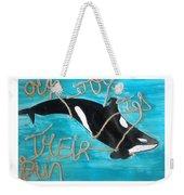 Save The Whales Weekender Tote Bag