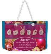 Savior Weekender Tote Bag