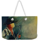 Sax Player Weekender Tote Bag