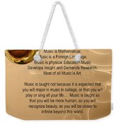 Saxophone Photograph Why Music For T-shirts Posters 4827.02 Weekender Tote Bag