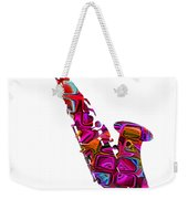 Saxophone With Shadow White Background Weekender Tote Bag