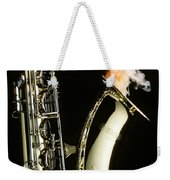 Saxophone With Smoke Weekender Tote Bag by Garry Gay