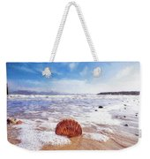 Scallop Shell On The Beach - Impressions Weekender Tote Bag