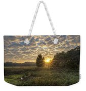 Scalloped Morning Skies Weekender Tote Bag
