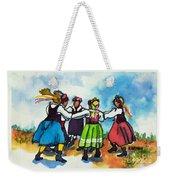 Scandinavian Dancers Weekender Tote Bag by Kathy Braud