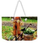 Scarecrow And Pumpkin Weekender Tote Bag