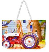 Scarecrow And Pumpkins Weekender Tote Bag