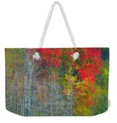 Scarlet Autumn Burst Weekender Tote Bag