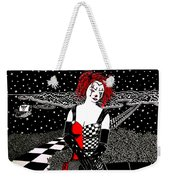 Scarlet Checkers Weekender Tote Bag
