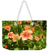 Scarlet Pimpernel Flower Photograph Weekender Tote Bag