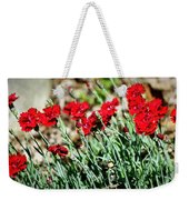 Scarlet Red Dianthus Weekender Tote Bag