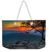 Scarlet Sky At Ravens Roost Weekender Tote Bag