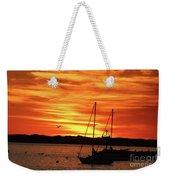 Scarlet Sunrise On Provincetown Pier 1  Weekender Tote Bag