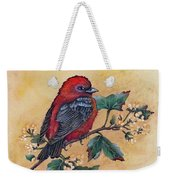 Scarlet Tanager - Acrylic Painting Weekender Tote Bag