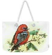 Scarlet Tanager - Summer Season Weekender Tote Bag